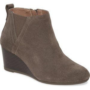 VIONIC Paloma Wedge Bootie Boot Greige Suede NEW